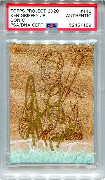 Ken Griffey Jr. Autographed Topps Project 2020 Card #116 Inscribed 13x AS - Gold 1/1