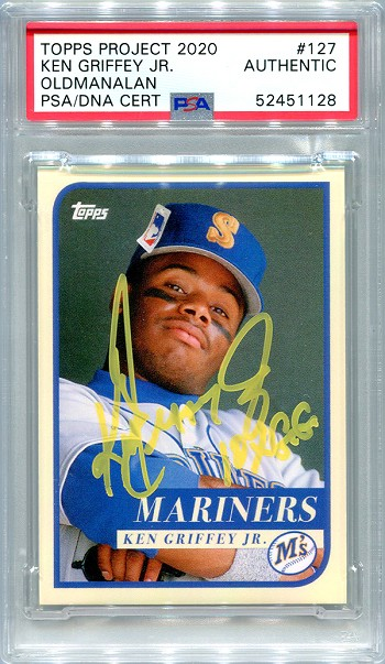 Ken Griffey Jr. Autographed Topps Project 2020 Card #127 Inscribed 10x GG - Yellow 1/1