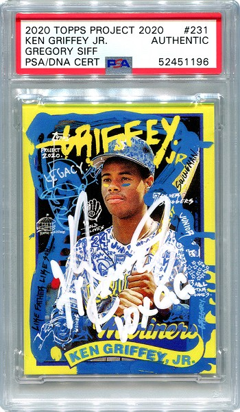 Ken Griffey Jr. Autographed Topps Project 2020 Card #231 Inscribed 10x GG - White 1/1