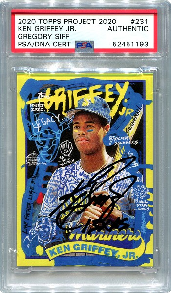 Ken Griffey Jr. Autographed Topps Project 2020 Card #231 Inscribed 13x AS - Black 1/1