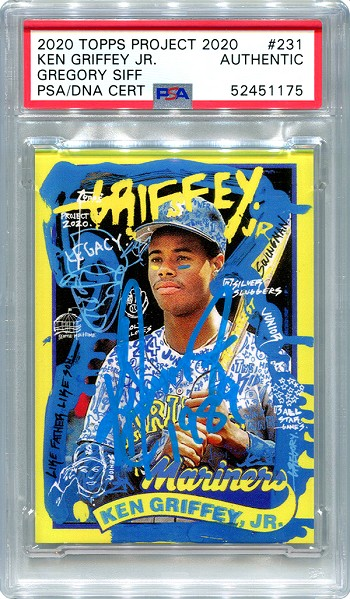 Ken Griffey Jr. Autographed Topps Project 2020 Card #231 Inscribed 1989 - Blue 1/1