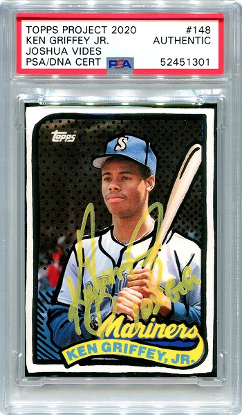 Ken Griffey Jr. Autographed Topps Project 2020 Card #148 Inscribed 10x GG - Yellow 1/1
