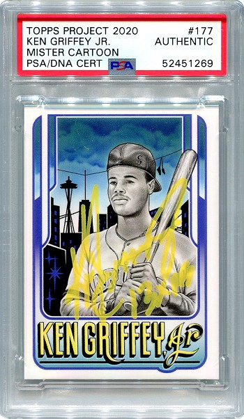 Ken Griffey Jr. Autographed Topps Project 2020 Card #177 Inscribed 13x AS - Yellow 1/1