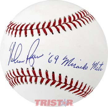 Nolan Ryan Autographed Official ML Baseball Inscribed 69 Miracle Mets