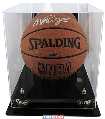 Basketball Display Case with Mirrored Back