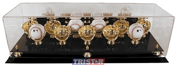 Gold Glove 11 Baseball Display Case with Mirrored Back
