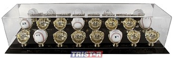 Gold Glove 16 Baseball Display Case with Mirrored Back