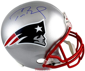 Tom Brady Autographed New England Patriots Replica Full Size Helmet