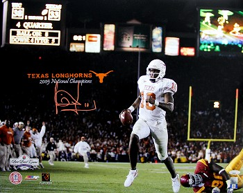 Vince Young Autographed Texas Longhorns Rose Bowl 16x20 Photo