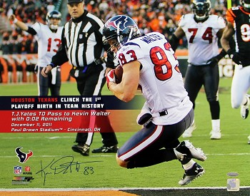 Kevin Walter Autographed Houston Texans Touchdown Catch 16x20 Photo