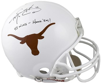 Colt McCoy Autographed Texas Longhorns Limited Edition Proline Helmet