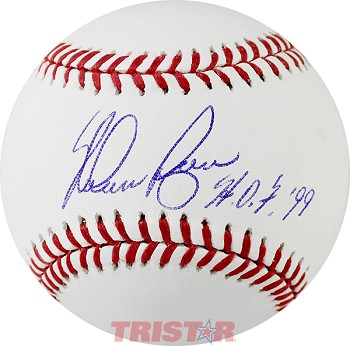 Nolan Ryan Autographed Official ML Baseball Inscribed HOF 99
