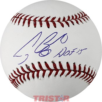 Craig Biggio Autographed Official Baseball Inscribed HOF 15