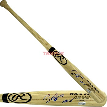 Craig Biggio Autographed Rawlings Name Model Bat Inscribed HOF 15